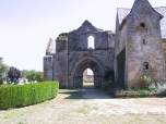 Ruins of an ancient abbey on a family farm in the Vendee, near Nantes.