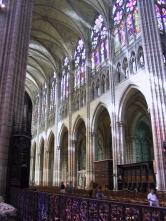 Basilica of St. Denis in the Paris suburbs.