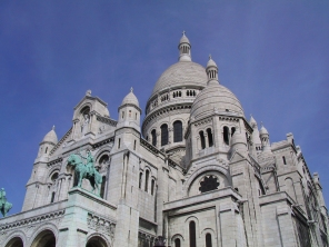 Basilica of Sacre Coeur in Paris.