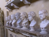 These were among scores of sculpted heads in one room of the Vatican Museum.