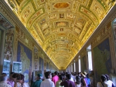 The map room at the Vatican Museum.