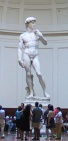Michelangelo's David in the Galleria dell'Accademia in Florence. Hands down the greatest work of art I've ever seen.