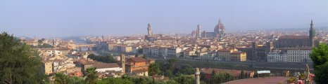 Panorama of the Florence skyline from Piazzale Michelangelo.