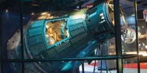 The Cosmosphere's Spaceworks Division restored Gus Grissom's Mercury spacecraft, the Liberty Bell 7, after it was recovered after spending 38 years at the bottom of the ocean.