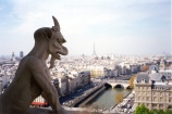 Gargoyle atop the Cathedral of Notre Dame.