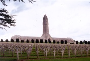 Ossuary outside Verdun containing the bones of tens of thousands of unidentified WW I soldiers.