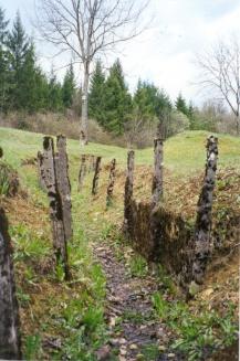 World War I trenches are still visible at Verdun.