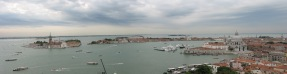 A panoramic shot of Venice from atop the bell tower.